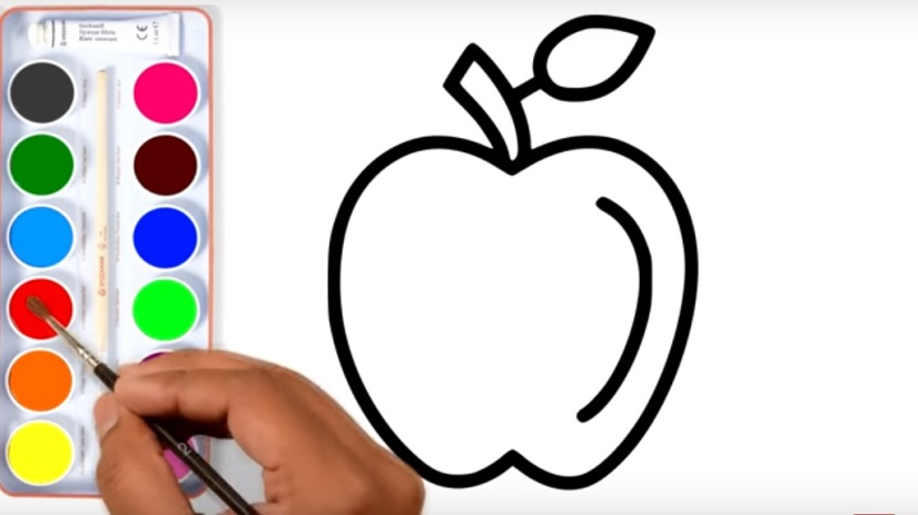How to Draw Apple Apple Coloring Page and 8 Coloring Pages Learn