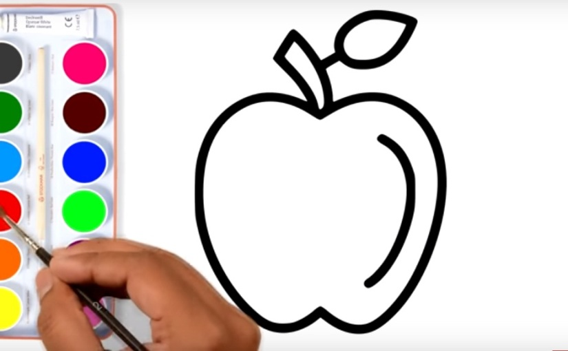 how to draw apple apple coloring page and 8 coloring pages learn coloring for baby - Apple Coloring Pages