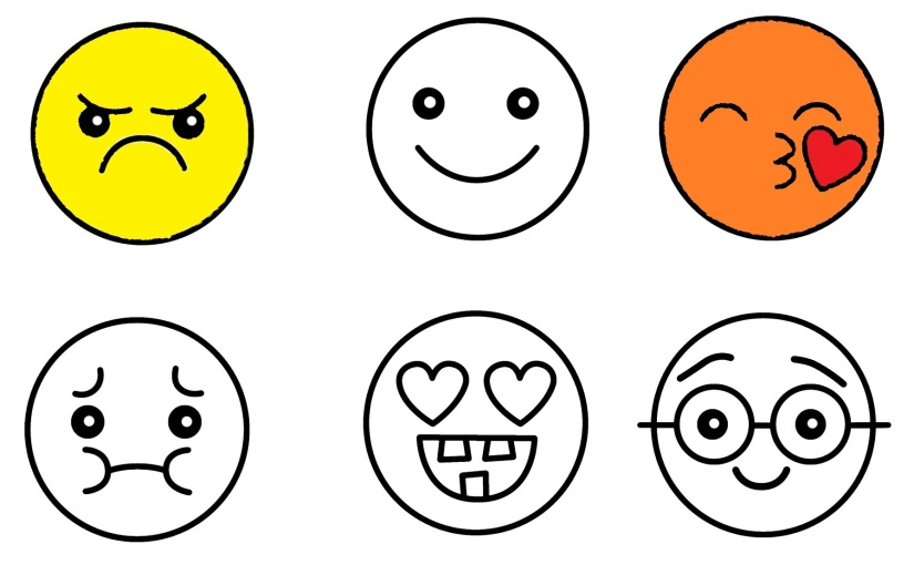 Six Emoji Coloring Pages Black And White Video Tutorials